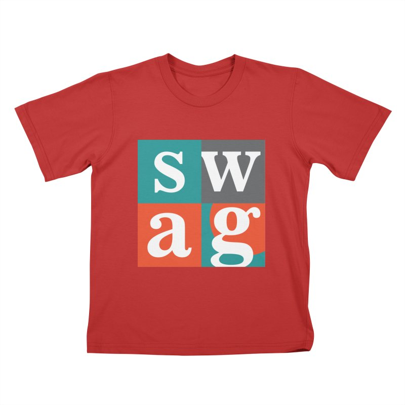 Swag Design Kids T-Shirt by abhikreationz's Artist Shop
