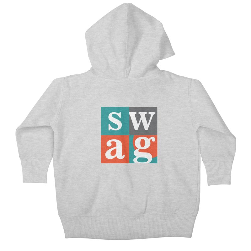 Swag Design Kids Baby Zip-Up Hoody by abhikreationz's Artist Shop