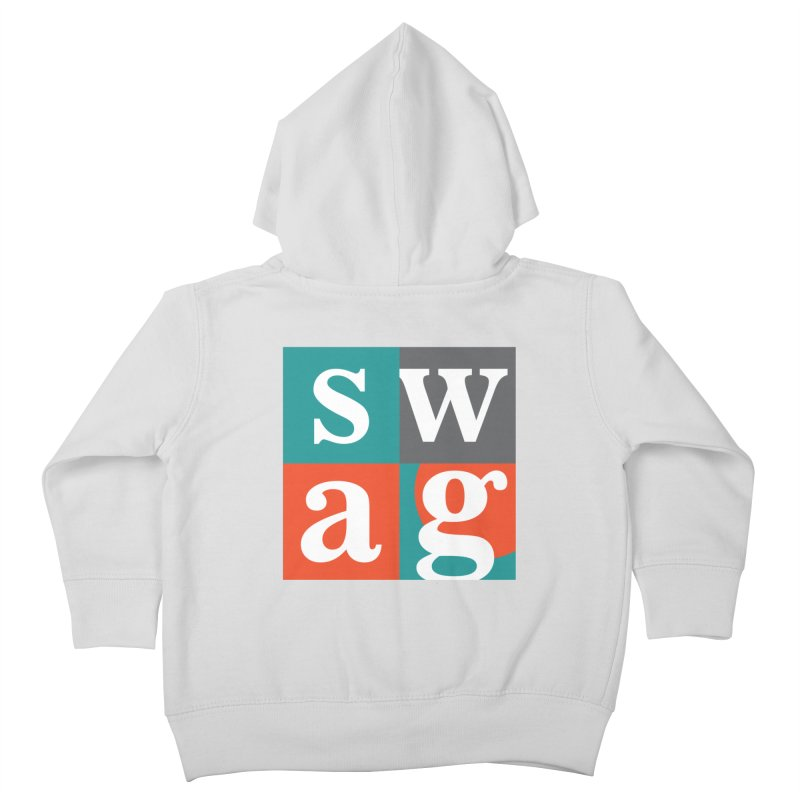Swag Design Kids Toddler Zip-Up Hoody by abhikreationz's Artist Shop