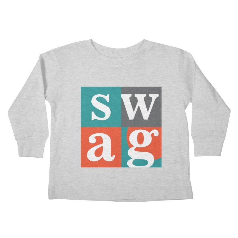 Swag Design Kids Toddler Longsleeve T-Shirt by abhikreationz's Artist Shop