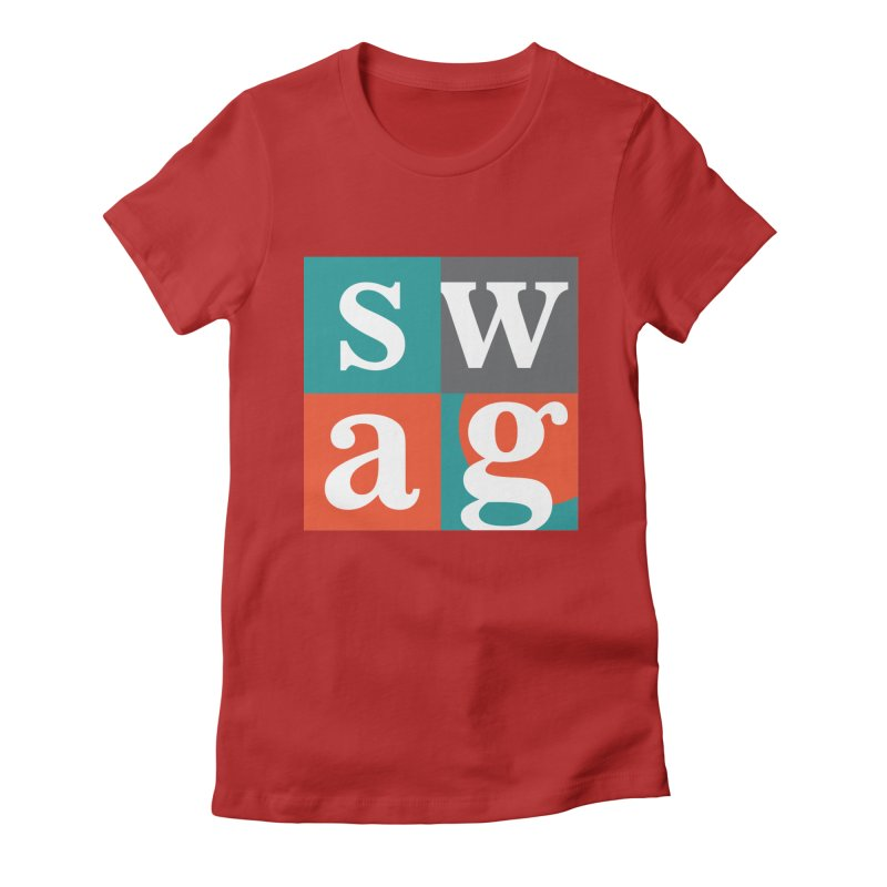 Swag Design Women's Fitted T-Shirt by abhikreationz's Artist Shop