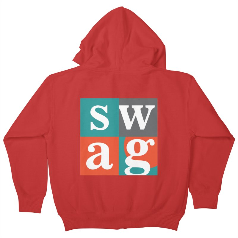 Swag Design Kids Zip-Up Hoody by abhikreationz's Artist Shop