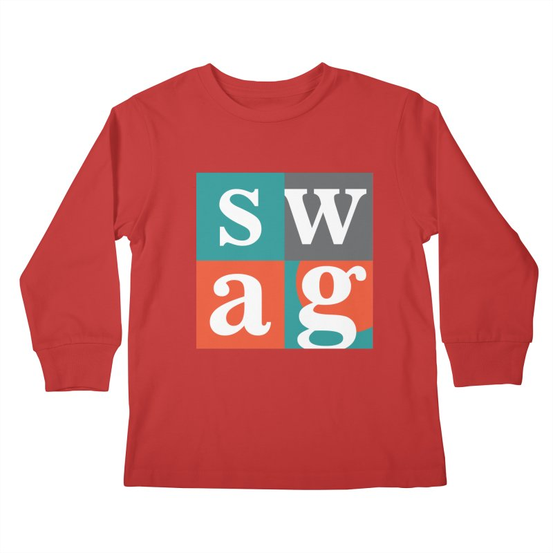 Swag Design Kids Longsleeve T-Shirt by abhikreationz's Artist Shop