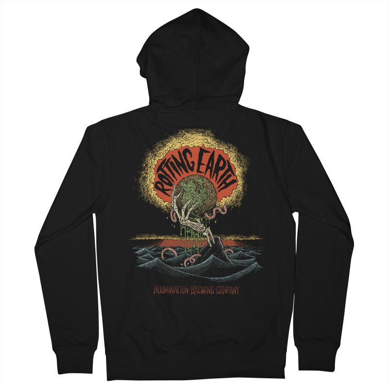 Rotting Earth Men's Zip-Up Hoody by abominationbrewing's Artist Shop