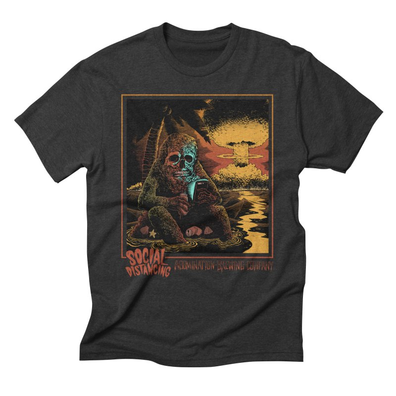 Social Distancing Men's T-Shirt by abominationbrewing's Artist Shop