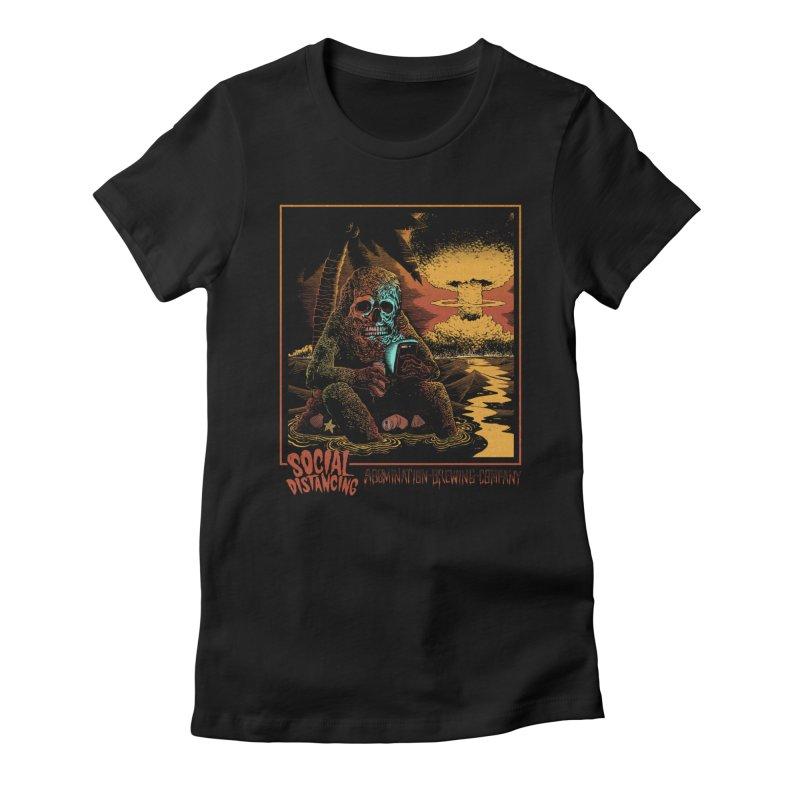 Social Distancing Women's T-Shirt by abominationbrewing's Artist Shop