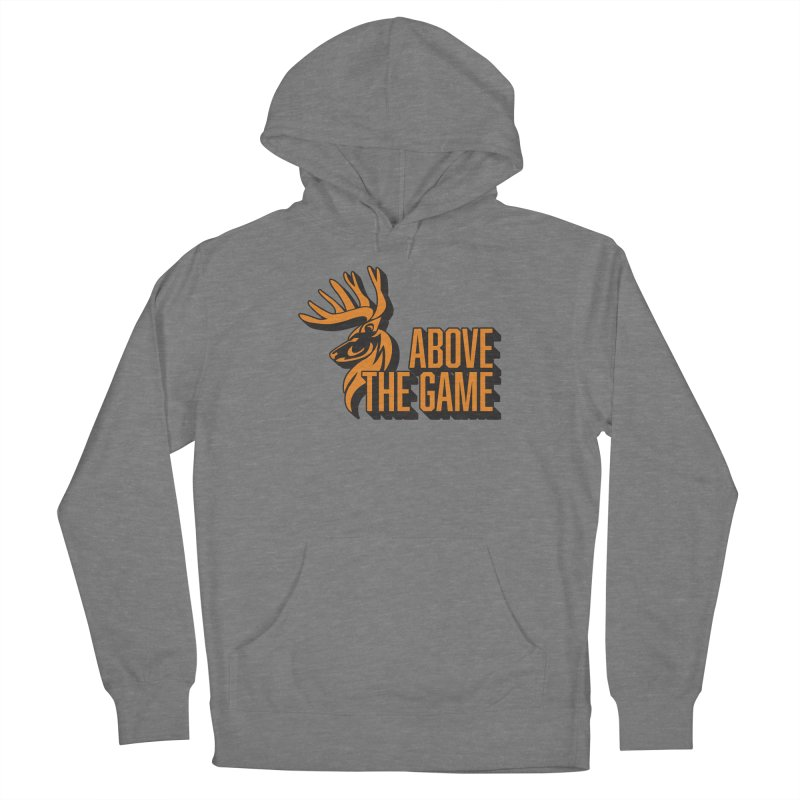 Above The Game in Men's French Terry Pullover Hoody Heather Graphite by abovethegame's Artist Shop