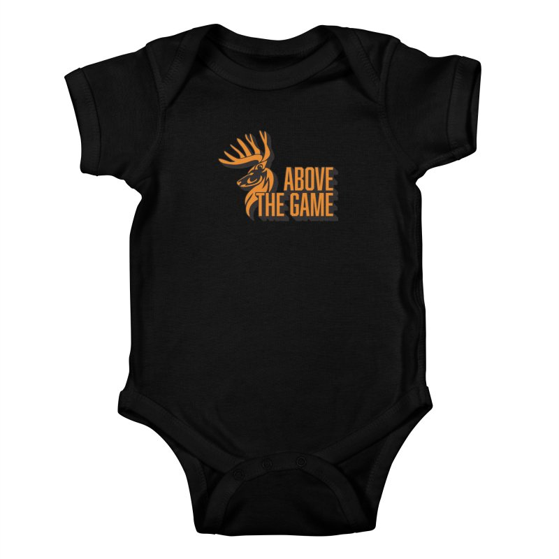 Above The Game in Kids Baby Bodysuit Black by abovethegame's Artist Shop