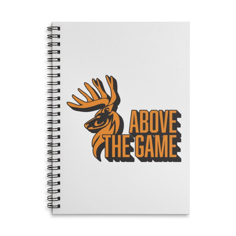 Above The Game Accessories Lined Spiral Notebook by abovethegame's Artist Shop