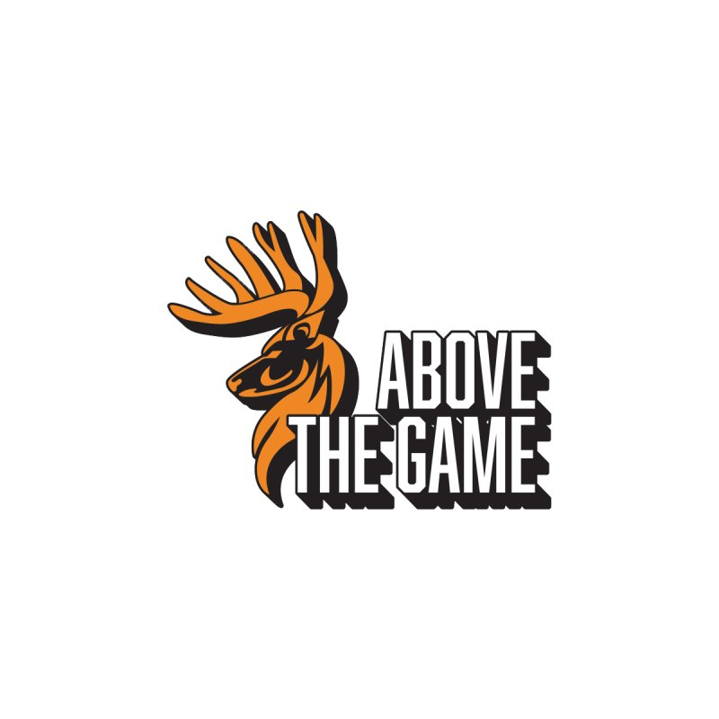 Above The Game - White Logo Men's T-Shirt by abovethegame's Artist Shop