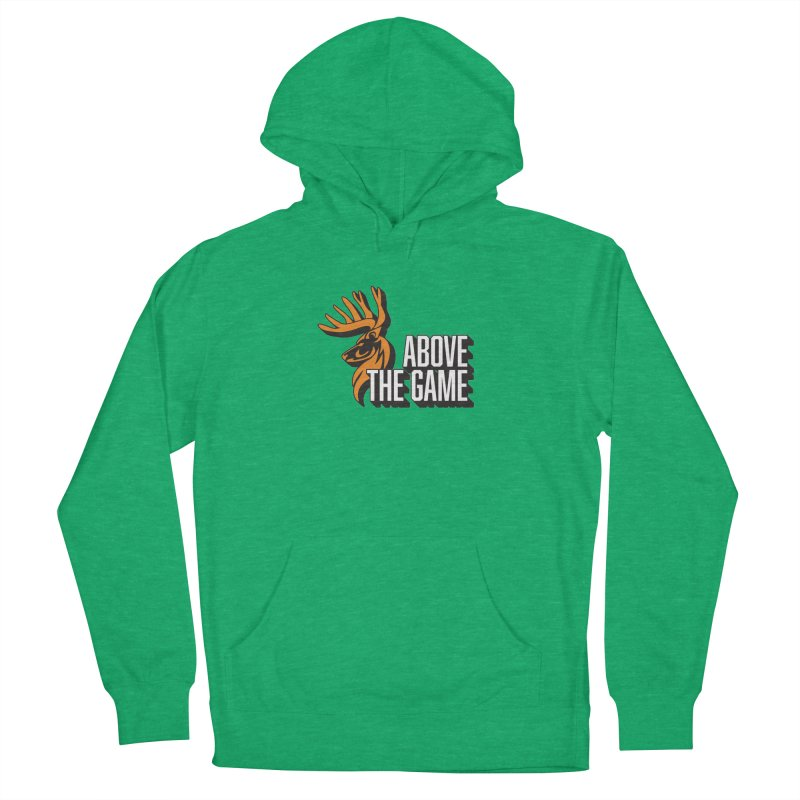 Above The Game - White Logo Men's French Terry Pullover Hoody by abovethegame's Artist Shop