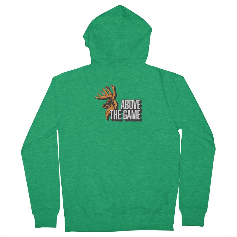 Above The Game - White Logo Women's French Terry Zip-Up Hoody by abovethegame's Artist Shop