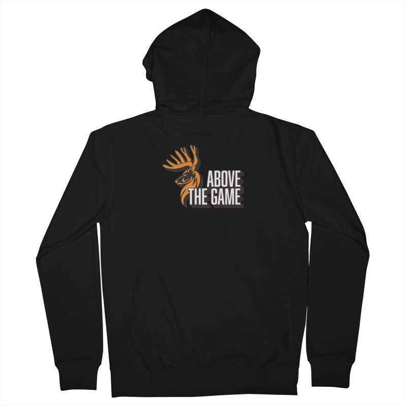 Above The Game - White Logo Men's Zip-Up Hoody by abovethegame's Artist Shop