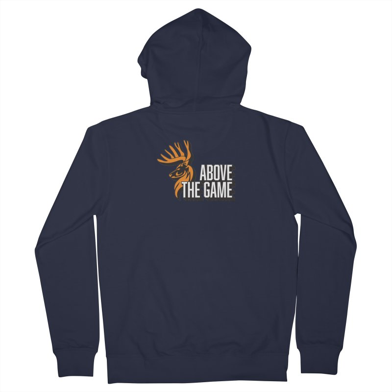 Above The Game - White Logo Men's French Terry Zip-Up Hoody by abovethegame's Artist Shop