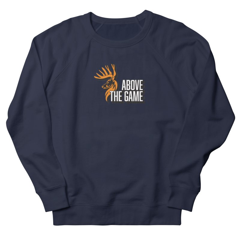 Above The Game - White Logo Men's French Terry Sweatshirt by abovethegame's Artist Shop