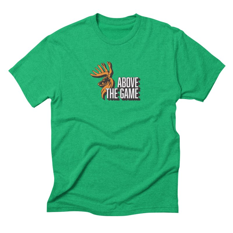 Above The Game - White Logo Men's Triblend T-Shirt by abovethegame's Artist Shop