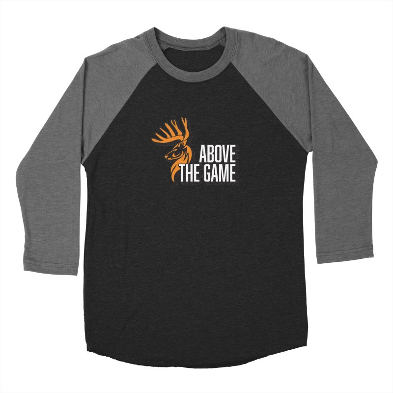 Above The Game - White Logo Men's Baseball Triblend Longsleeve T-Shirt by abovethegame's Artist Shop