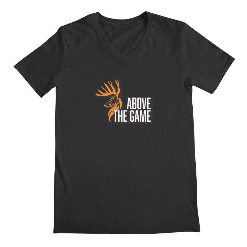 Above The Game - White Logo Men's V-Neck by abovethegame's Artist Shop