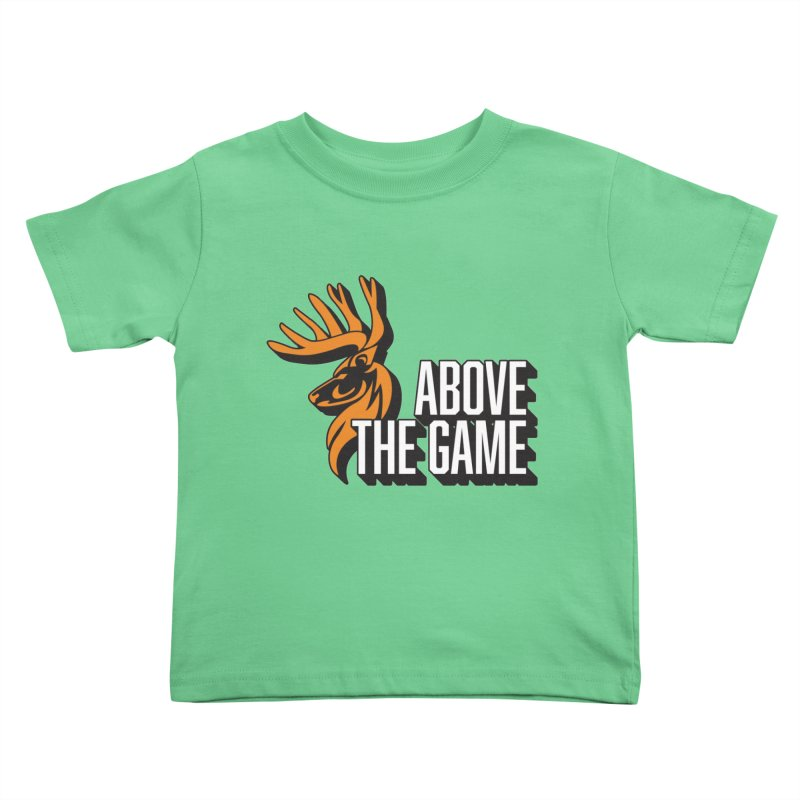 Above The Game - White Logo Kids Toddler T-Shirt by abovethegame's Artist Shop