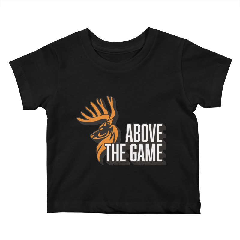 Above The Game - White Logo Kids Baby T-Shirt by abovethegame's Artist Shop