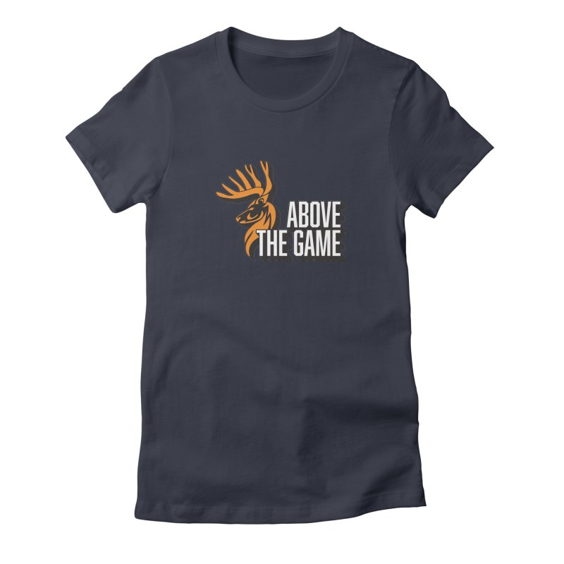 Above The Game - White Logo Women's T-Shirt by abovethegame's Artist Shop