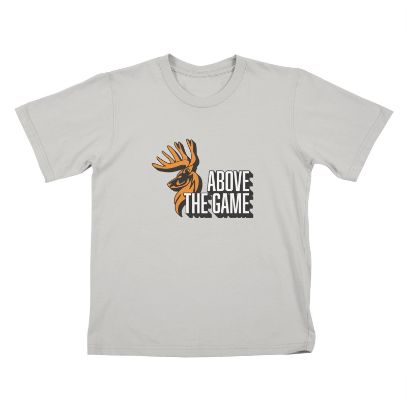 Above The Game - White Logo Kids T-Shirt by abovethegame's Artist Shop