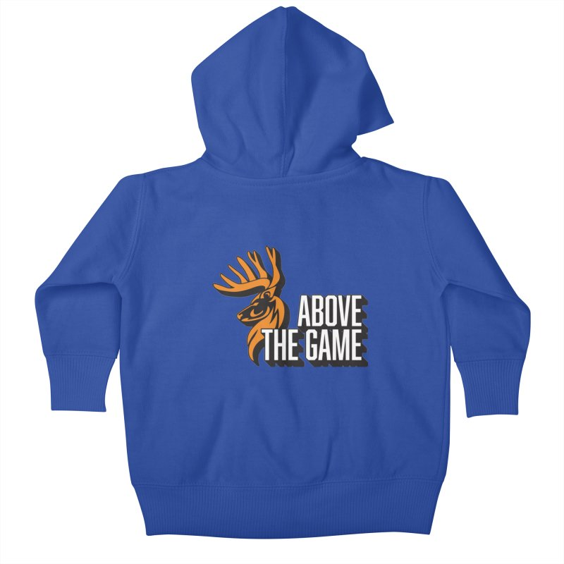 Above The Game - White Logo Kids Baby Zip-Up Hoody by abovethegame's Artist Shop
