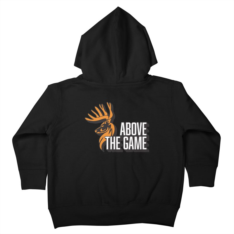 Above The Game - White Logo Kids Toddler Zip-Up Hoody by abovethegame's Artist Shop
