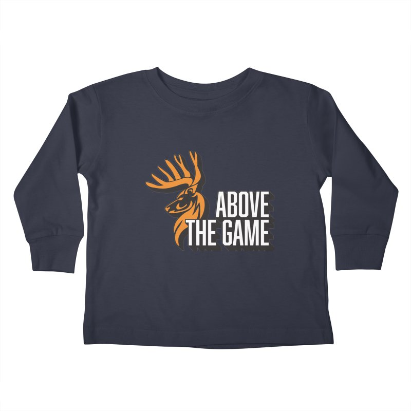 Above The Game - White Logo Kids Toddler Longsleeve T-Shirt by abovethegame's Artist Shop