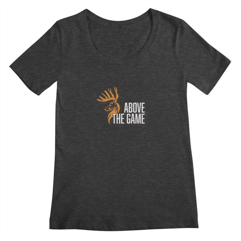 Above The Game - White Logo Women's Scoopneck by abovethegame's Artist Shop