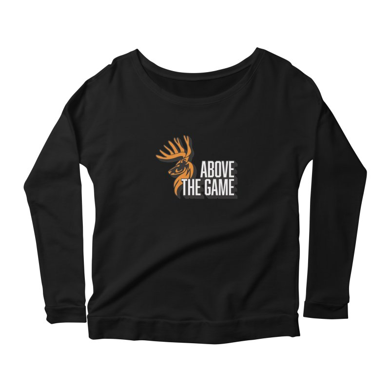 Above The Game - White Logo Women's Scoop Neck Longsleeve T-Shirt by abovethegame's Artist Shop