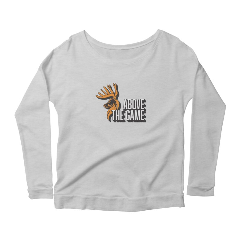 Above The Game - White Logo Women's Longsleeve Scoopneck  by abovethegame's Artist Shop