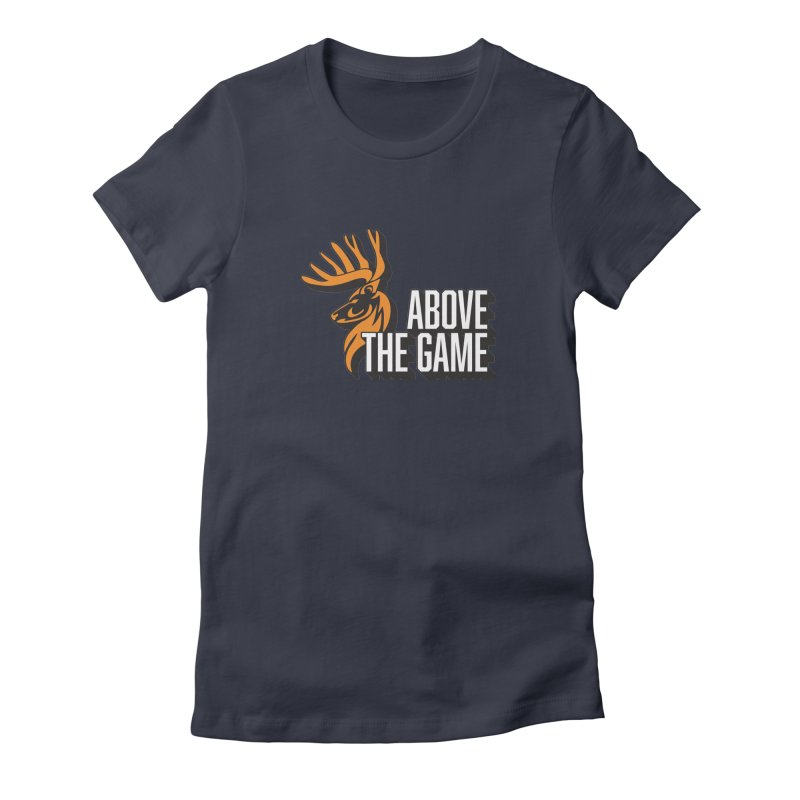 Above The Game - White Logo Women's Fitted T-Shirt by abovethegame's Artist Shop