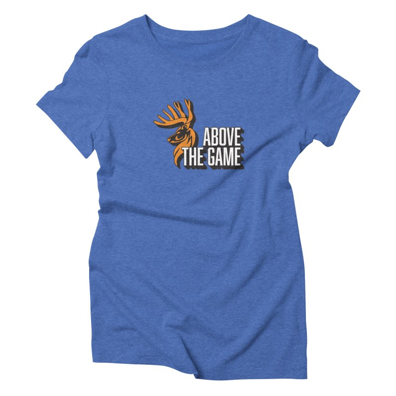 Above The Game - White Logo Women's Triblend T-Shirt by abovethegame's Artist Shop