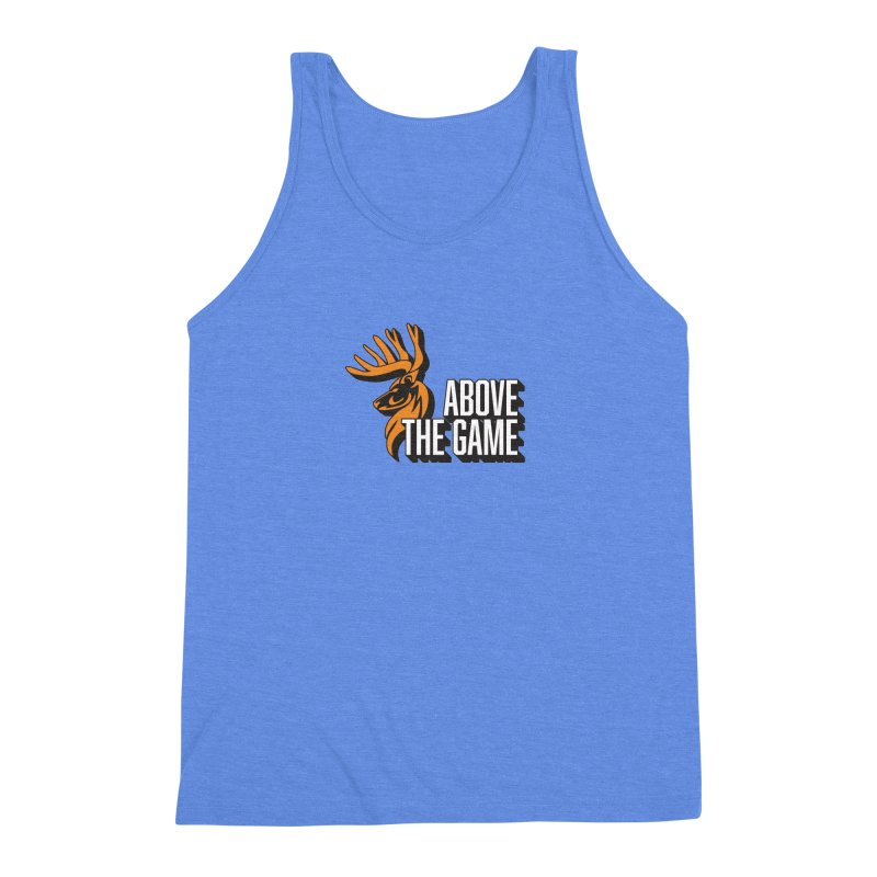 Above The Game - White Logo Men's Triblend Tank by abovethegame's Artist Shop