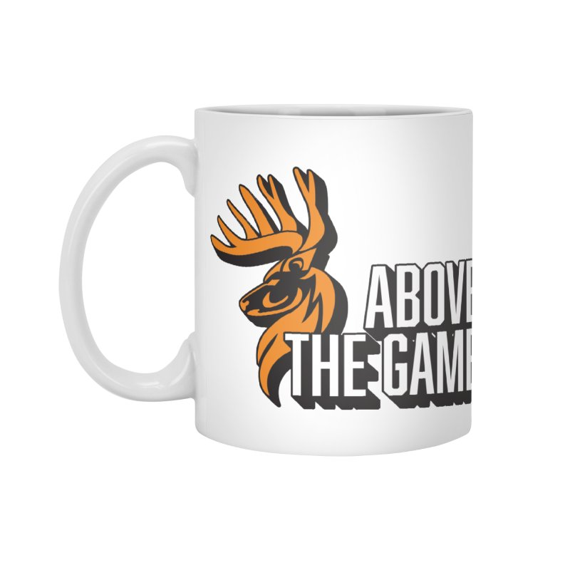 Above The Game - White Logo Accessories Mug by abovethegame's Artist Shop
