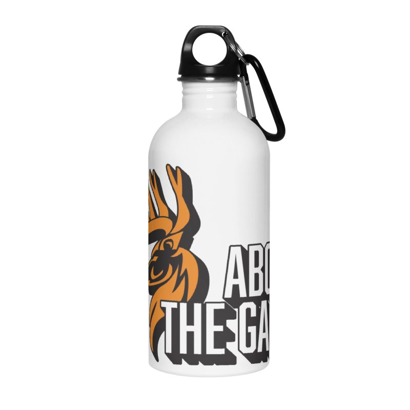 Above The Game - White Logo Accessories Water Bottle by abovethegame's Artist Shop