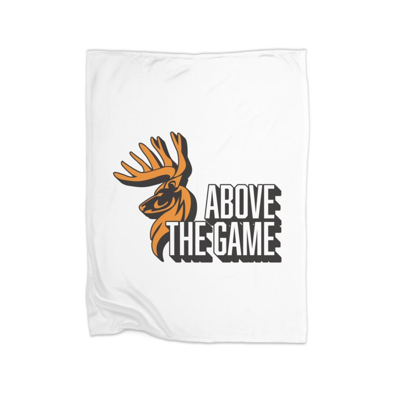 Above The Game - White Logo Home Blanket by abovethegame's Artist Shop