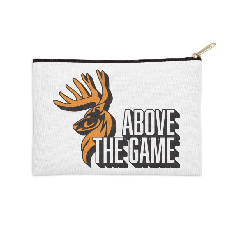 Above The Game - White Logo Accessories Zip Pouch by abovethegame's Artist Shop