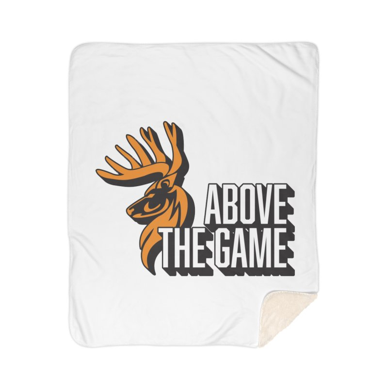 Above The Game - White Logo Home Sherpa Blanket Blanket by abovethegame's Artist Shop