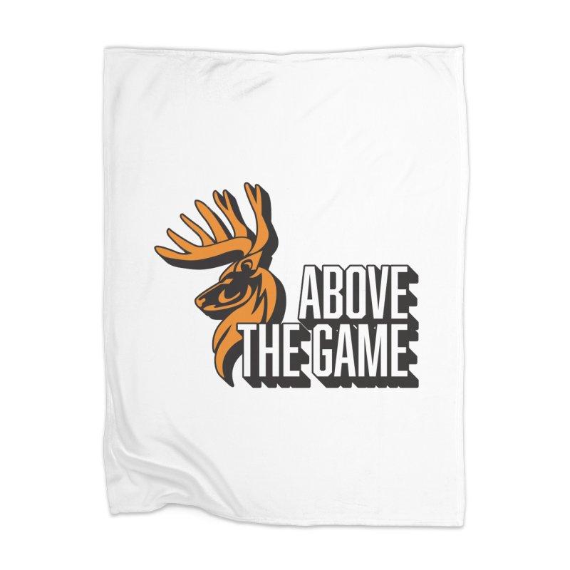 Above The Game - White Logo Home Blanket by abovethegame's Artist Shop