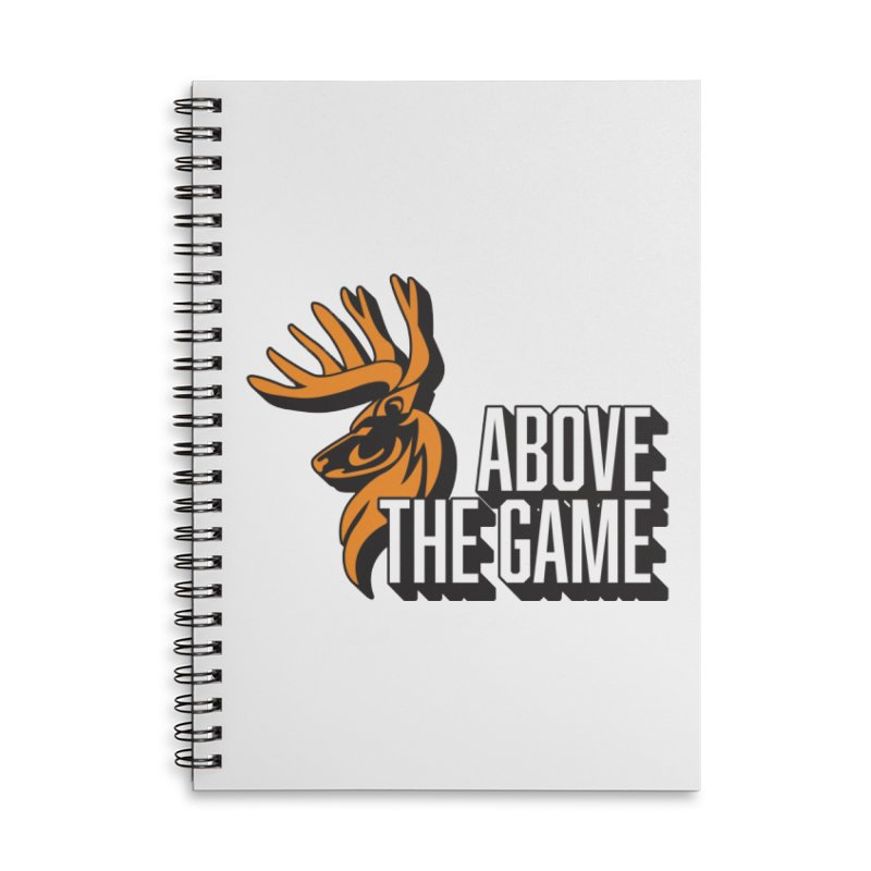Above The Game - White Logo Accessories Lined Spiral Notebook by abovethegame's Artist Shop