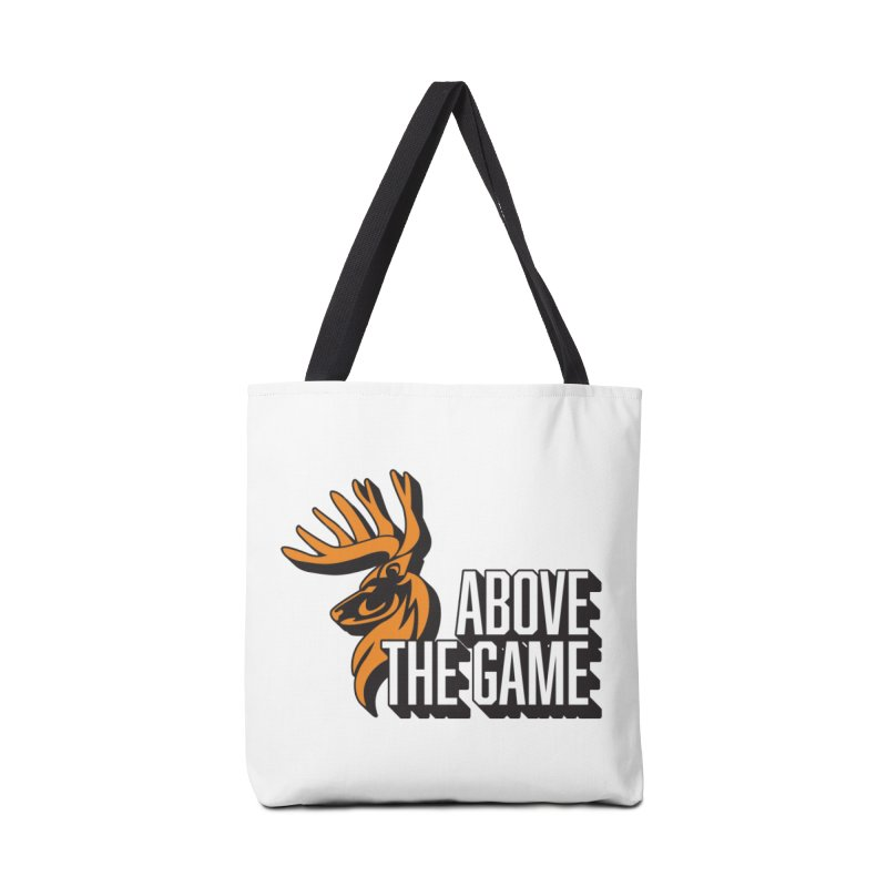 Above The Game - White Logo Accessories Tote Bag Bag by abovethegame's Artist Shop