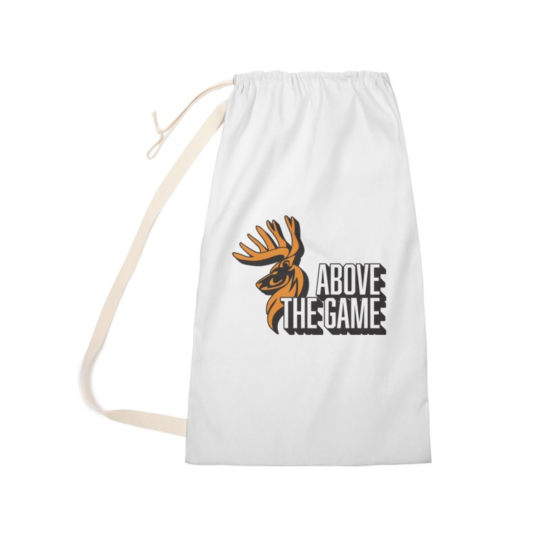 Above The Game - White Logo Accessories Laundry Bag Bag by abovethegame's Artist Shop