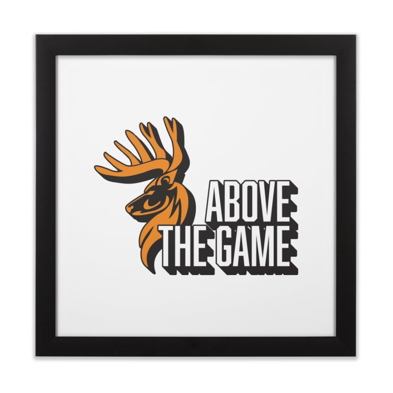 Above The Game - White Logo Home Framed Fine Art Print by abovethegame's Artist Shop