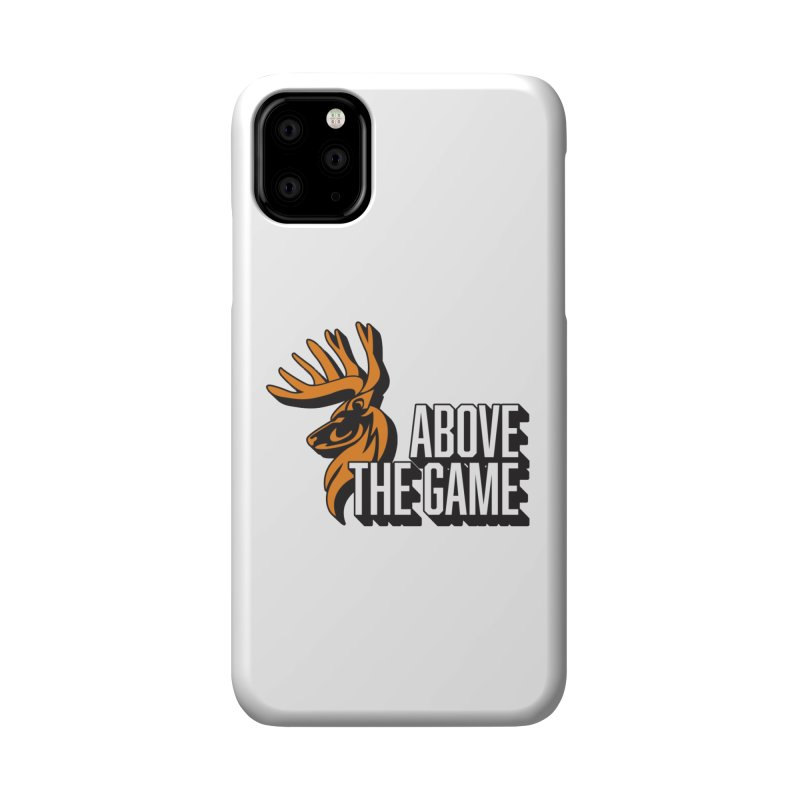 Above The Game - White Logo Accessories Phone Case by abovethegame's Artist Shop