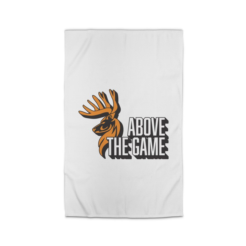 Above The Game - White Logo Home Rug by abovethegame's Artist Shop