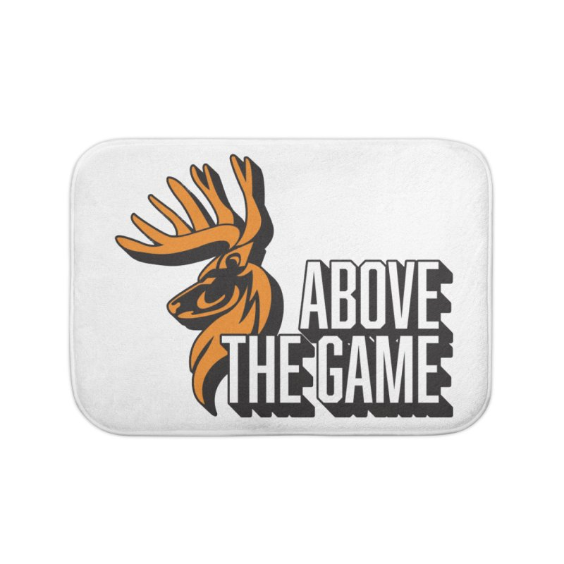 Above The Game - White Logo Home Bath Mat by abovethegame's Artist Shop