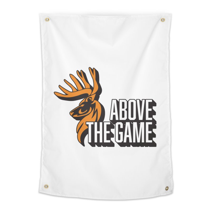 Above The Game - White Logo Home Tapestry by abovethegame's Artist Shop