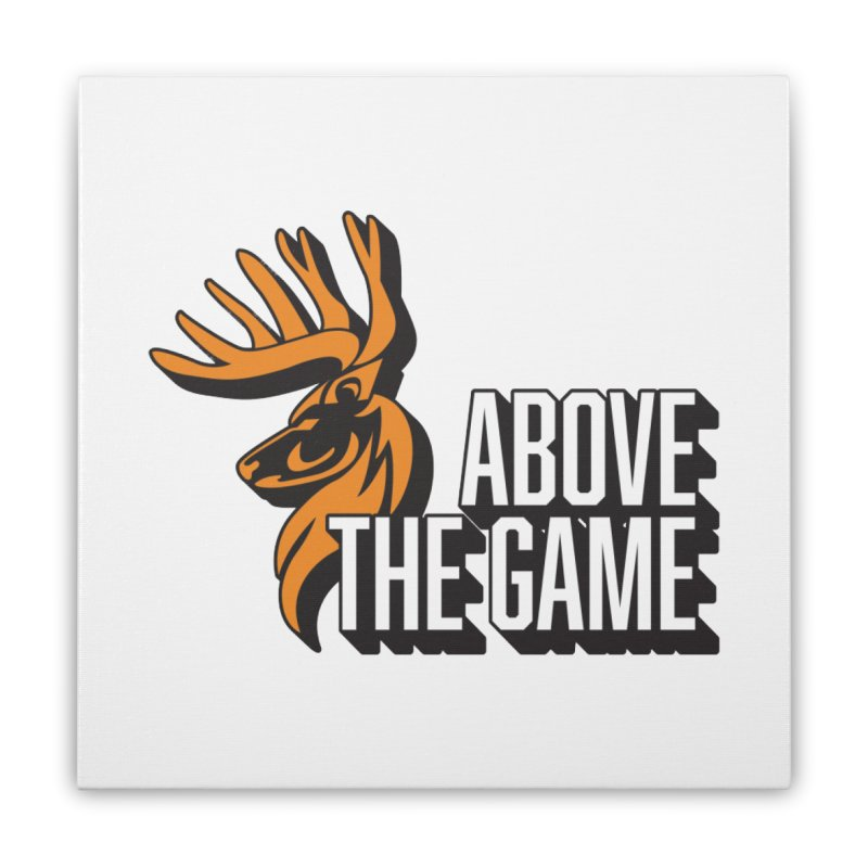 Above The Game - White Logo Home Stretched Canvas by abovethegame's Artist Shop